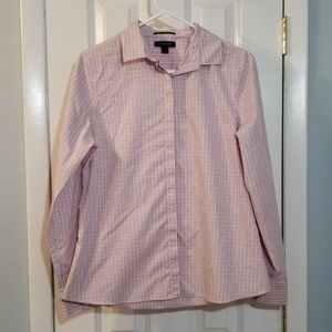 Lands' End Pink Checkered Button Down